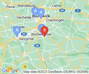 Karte für Disc Golf-Anlage Wolfenbüttel Gutspark