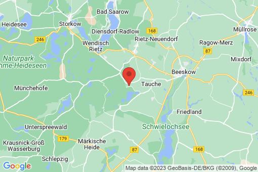 Karte Tauche Görsdorf bei Beeskow