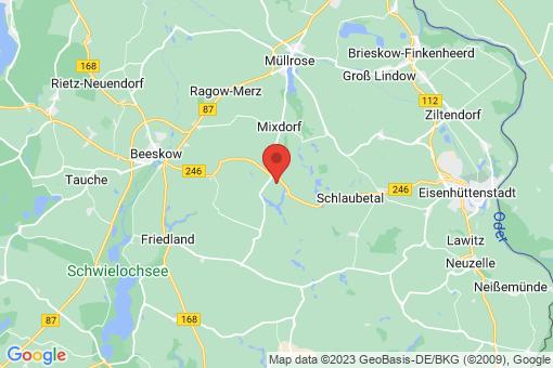 Karte Grunow-Dammendorf Grunow