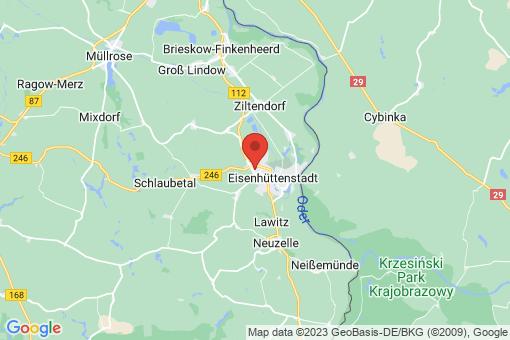 Karte Eisenhüttenstadt Schönfließ
