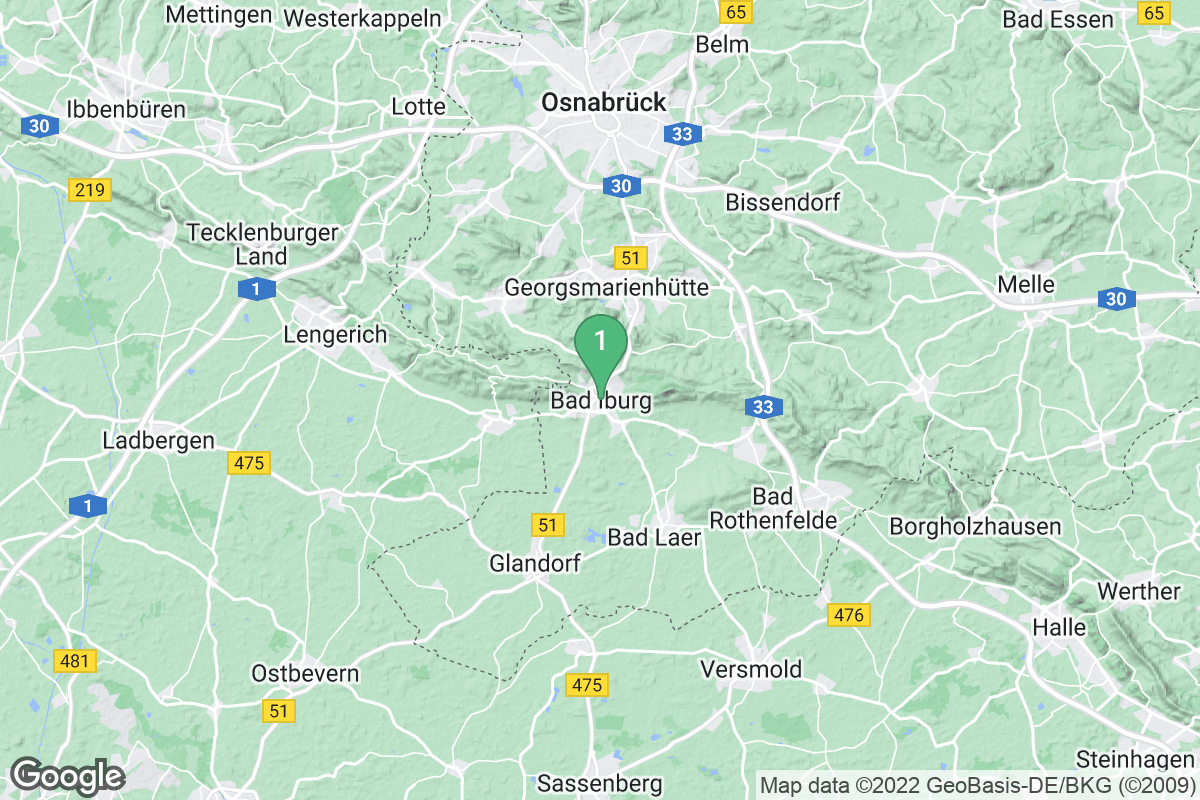 Google Map of Bad Iburg