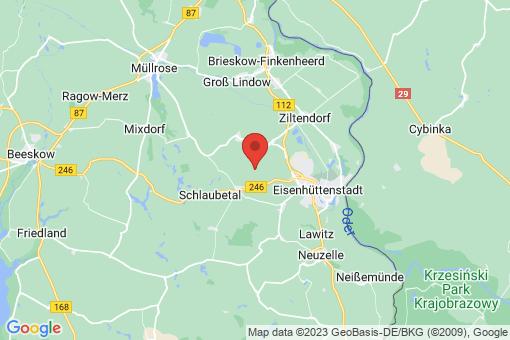 Karte Eisenhüttenstadt