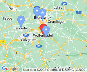Karte für Disc Golf-Anlage Wolfenbüttel Seeliger Park