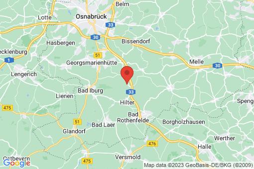 Karte Hilter am Teutoburger Wald