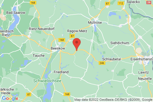 Karte Beeskow Schneeberg
