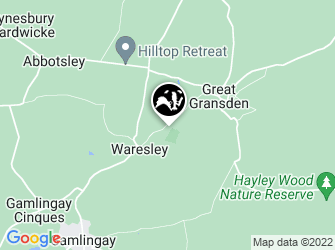 A static map of Waresley & Gransden Woods