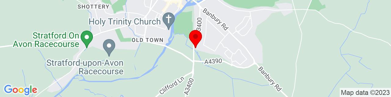 Google Map of 52.18333333333333, -1.7