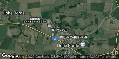 Google Map of Hermsdorf bei Wolmirstedt