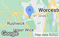 Map of Worcester, Worcestershire