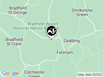 A static map of Bradfield Woods National Nature Reserve