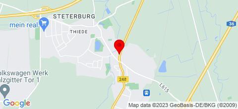 Google Map für schöne Monteurzimmer in Salzgitter & Braunschweig