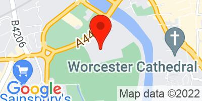 Map of New Road, Worcester