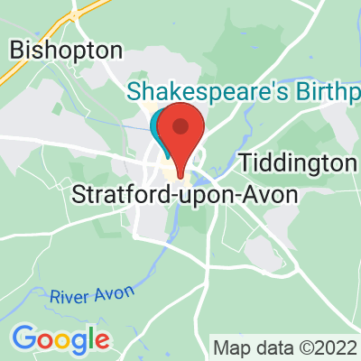 Map showing Amar Cafe (Stratford Upon Avon)