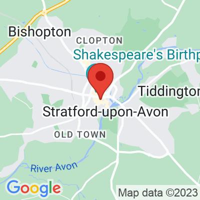 Map showing Yorks Cafe (Stratford-upon-Avon)