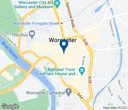 Map of 72-74 High Street in Worcester
