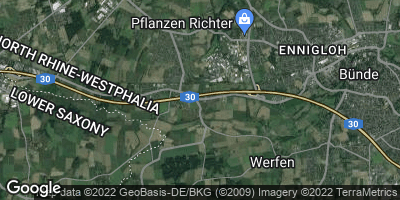 Google Map of Ahle bei Bünde