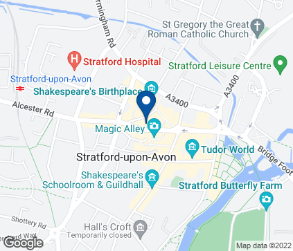 Map of 36 Wood Street in Stratford upon Avon