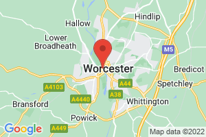 University of Worcester: The Hive on the map