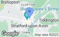 Map of Stratford-upon-Avon, Warwickshire