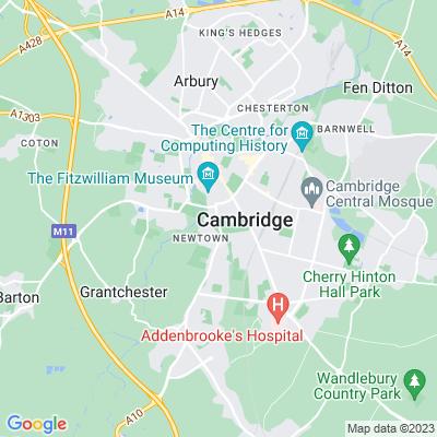 Cambridge University Botanic Garden Location