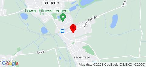 Google Map für Zimmervermietung Henning Grobe