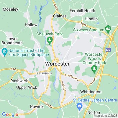 Worcester Pleasure Grounds Location