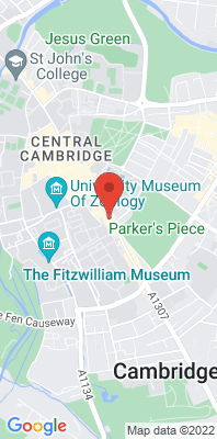 Map showing the location of the Cambridge Roadside monitoring site