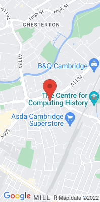 Map showing the location of the Cambridge Newmarket Road monitoring site