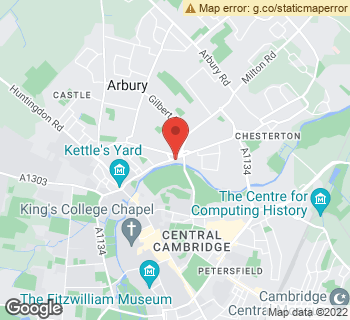 Map of The Cambridge Flower Shop at 18A Chesterton Road, Cambridge, Cambridgeshire CB4 3AX