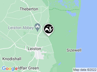 A static map of Sizewell Belts Nature Reserve