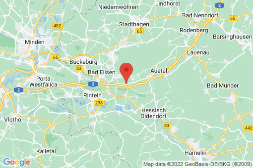 Karte Auetal Bernsen