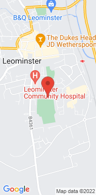 Map showing the location of the Leominster monitoring site
