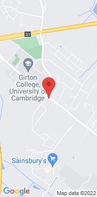 Map showing the location of the South Cambs Girton Rd monitoring site