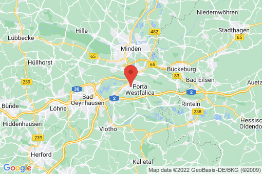Karte Porta Westfalica