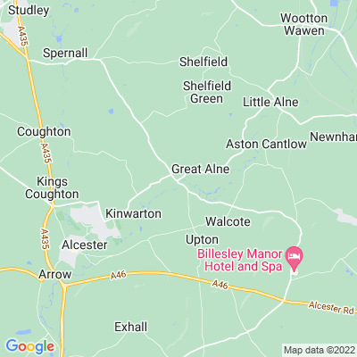 Great Alne Hall Location