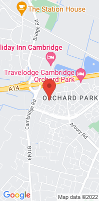 Map showing the location of the S Cambs Orchard Park School monitoring site