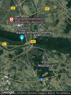 Google Map of Hausberge an der Porta