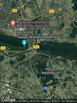 Google Map of Porta Westfalica