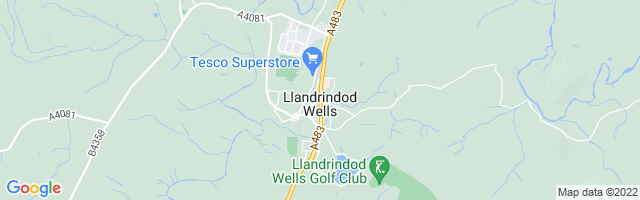 Map Of Llandrindod Wells