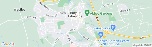 Map Of Bury St Edmunds