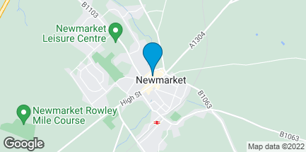 Map of 5 The Guineas in Newmarket