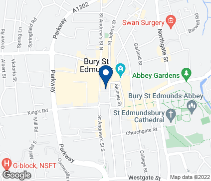 Map of 11-13 Cornhill in Bury St Edmunds