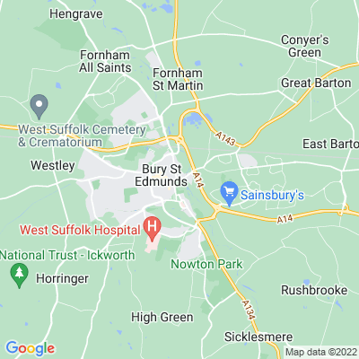 Abbey Gardens, Bury St Edmund's Location