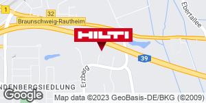 Wegbeschreibung zu Hilti Store Braunschweig