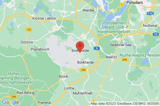 Karte Borkwalde