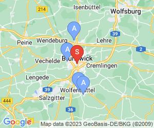 Karte für Disc Golf-Anlage Braunschweig Bürgerpark