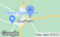 Map of Southam, Warwickshire