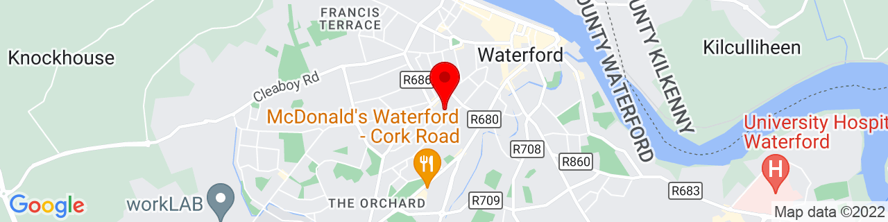 Google Map of 52.254958333333335, -7.119247222222222