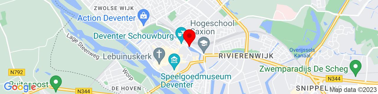 Google Map of 52.255, 6.16389