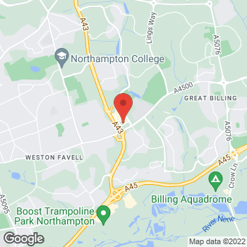 Map of wilko Weston Favell at 7E Weston Favell Shopping Centre, Northampton,  NN3 9HH